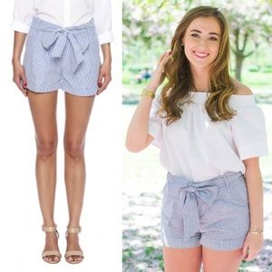 Blue Bow Shorts by Lauren James Co.